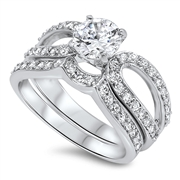 Silver CZ Ring - $12.85