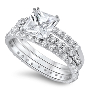 Silver CZ Ring - $14.85