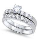Silver Wedding Ring Sets - $12.50