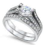 Silver CZ Ring - $12.75