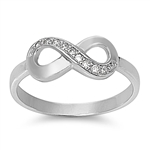 Silver CZ Ring - Infinity Sign - $5.04