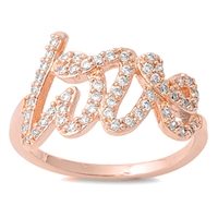 Silver CZ Ring - Love - $8.48