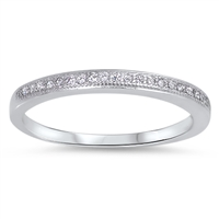 Silver CZ Ring - $4.44