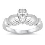 Silver CZ Ring - Claddagh Ring - $4.99
