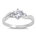 Silver CZ Ring - $5.45