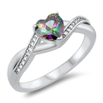 Silver CZ Ring - Heart - $5.18