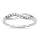 Silver CZ Ring - Infinity Ring - $4.06