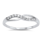 Silver CZ Ring - Infinity Ring - $3.69