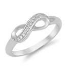 Silver CZ Ring - Infinity Ring - $5.34