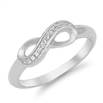 Silver CZ Ring - Infinity Ring - $4.85