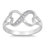 Silver CZ Ring - Infinity Heart - $5.25