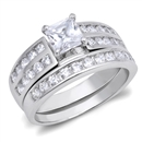 Silver Weding Ring Sets - $13.46