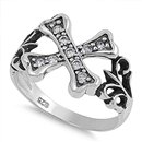Silver CZ Ring - Cross - $5.68