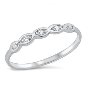 Silver CZ Ring - $2.42
