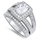 Silver Wedding Ring Sets - $16.93