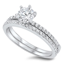 Silver Wedding Ring Sets - $8.95