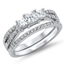 Silver Wedding Ring Sets - $10.88
