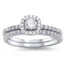 Silver Wedding Ring Sets - $9.66