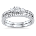 Silver Wedding Ring Sets - $9.19