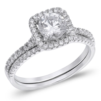 Silver Wedding Ring Sets - $9.94