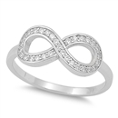 Silver CZ Ring - Infinity - $6.57