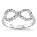Silver CZ Ring - Infinity Ring - $6.35