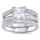 Silver Weding Ring Sets - $16.3