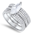 Silver Wedding Ring Sets - $16.96