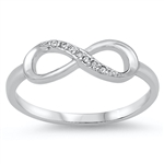 Silver CZ Ring - Infinity Ring - $4.64