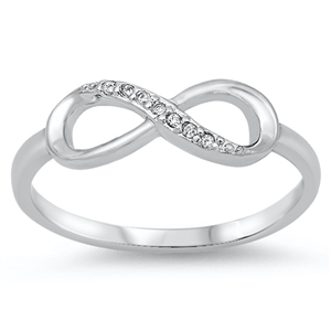 Silver CZ Ring - Infinity Ring - $3.67