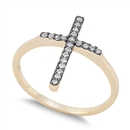 Silver CZ Ring - Cross - $8.93