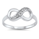 Silver CZ Ring - Infinity - $5.38