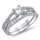 Silver Wedding Ring Sets - $9.38
