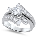 Silver Wedding Ring Sets - $18.15