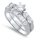 Silver Wedding Ring Sets - $18.17