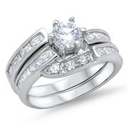 Silver Wedding Ring Sets - $12.69