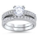 Silver Wedding Ring Sets - $14.85