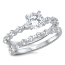 Silver Wedding Ring Sets - $12.76
