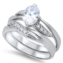 Silver Wedding Ring Sets - $13.18