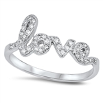 Silver CZ Ring - Love - $7.58