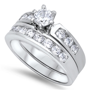 Silver Wedding Ring Sets - $13.46