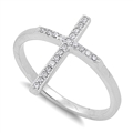 Silver CZ Ring - Cross - $5.26