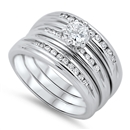 Silver Weding Ring Sets - $16.49