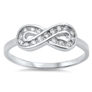 Silver CZ Ring - Infinity - $4.10