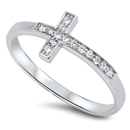 Silver CZ Ring - Cross - $3.44