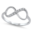 Silver Infinity CZ Ring - $4.15