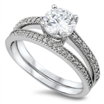 Silver Weding Ring Sets - $8.99
