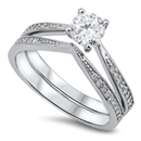 Silver Weding Ring Sets - $9.48