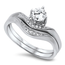 Silver Weding Ring Sets - $8.59