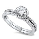 Silver Weding Ring Sets - $9.88